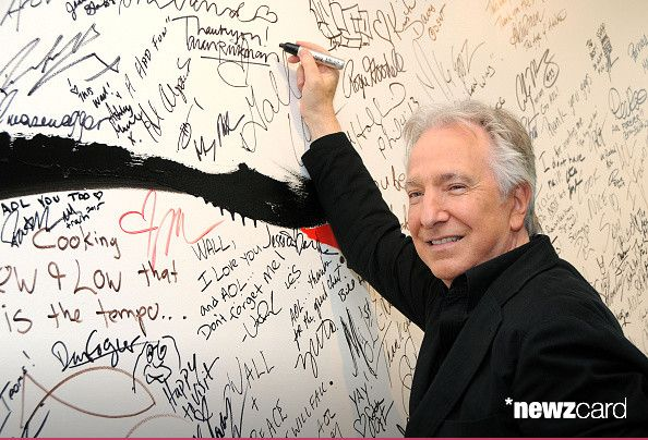 Actor Alan Rickman speaks about his film 'A Little Chaos' during AOL Build Speaker Series at AOL Studios In New York on June 19, 2015 in New York City. (Photo by Desiree Navarro/WireImage)