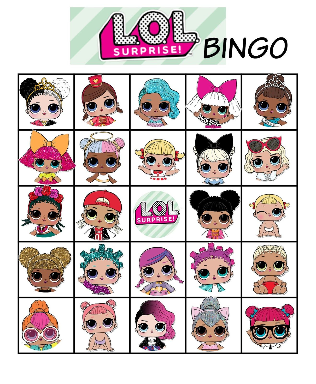 L O L Dolls Bingo
