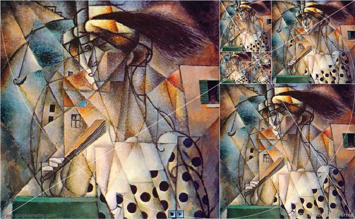 Woman with a Fan by Jean Metzinger and Golden Rectangles.