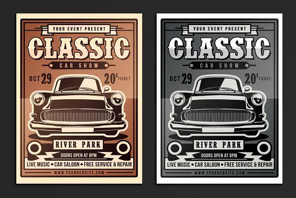 Classic Car Show Flyer Template Morenimpulsarco - Car show flyer template