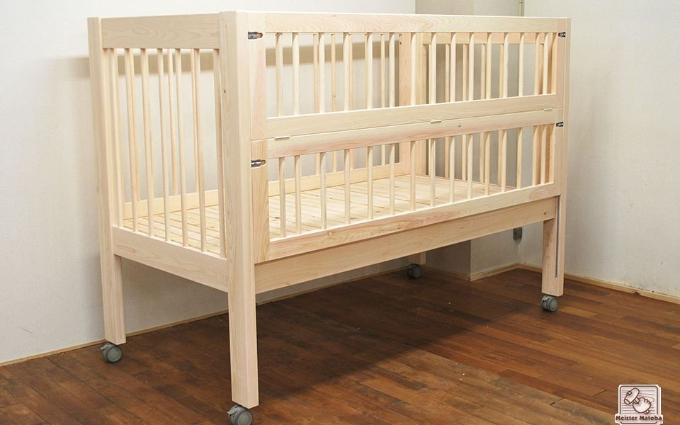 柵の高さの高い 無垢ひのき介護訓練オーダーベッドno1701035 ベッド ひのき 家具