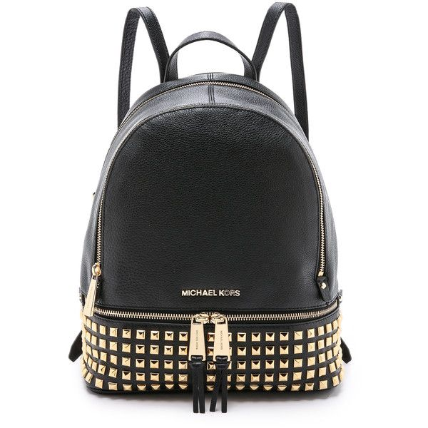 834cd4c1ea322 MICHAEL Michael Kors Small Studded Backpack (7167165 BYR) ❤ liked on  Polyvore featuring bags