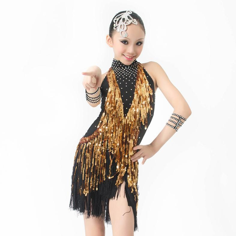 139e5d201 Cheap costum, Buy Quality costume business directly from China costume dress  Suppliers: New latin dance costumes senior sexy spandex sequins tassel latin  ...