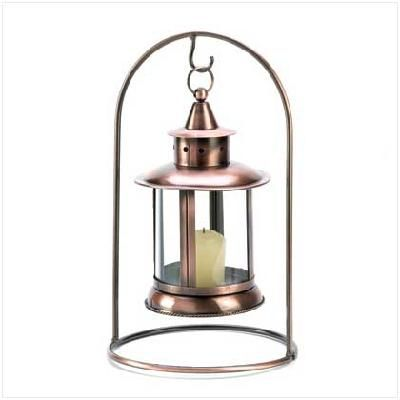 Copper Hanging Tabletop Candle Lantern Free Shipping!