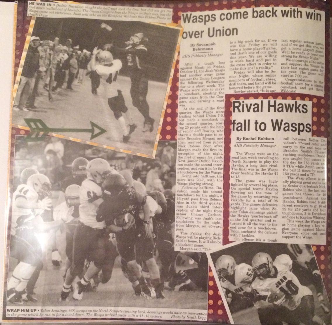 Scrapbook ideas graduation - Sports Scrapbook Scrapbook With Newspaper Clippings Football Scrapbook Layouts