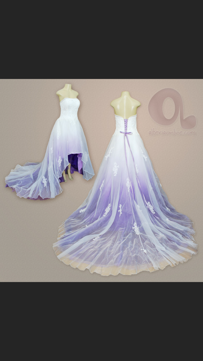 Camille La Vie Altered Into A High Low Wedding Dress Used Size 14 800 Purple Wedding Dress Dip Dye Wedding Dress Wedding Dresses High Low [ 1536 x 864 Pixel ]