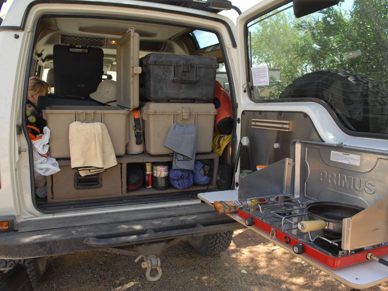 Using The Rear Door Properly Fold Up Table Space For The