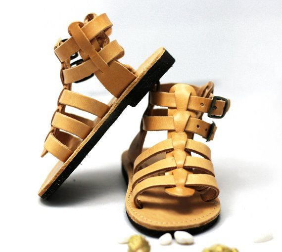0d8f2cb5916a Sandals for kids – Brown leather sandals for baby boy make cute gladiator  sandals with buckles right
