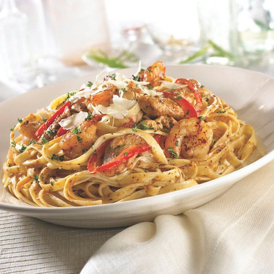 Fridays Cajun Chicken And Shrimp Pasta Girls Night Isnt All