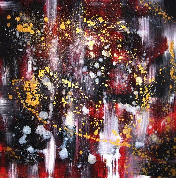 Acryl auf Leinwand Fire 50 cm x 50 cm mit von AtelierCRIVASTE