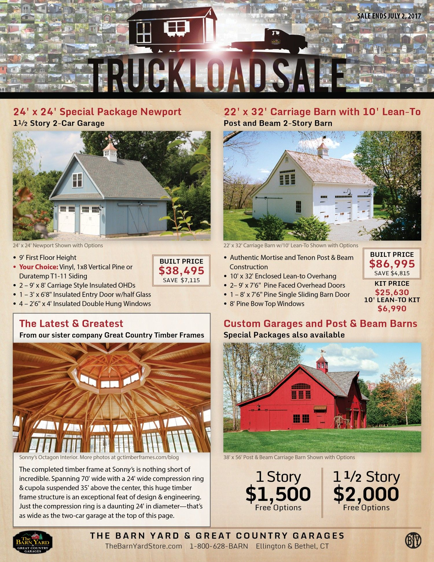 Sale: Sheds, Garages, Post & Beam Barns, Pavilions for CT, MA, RI