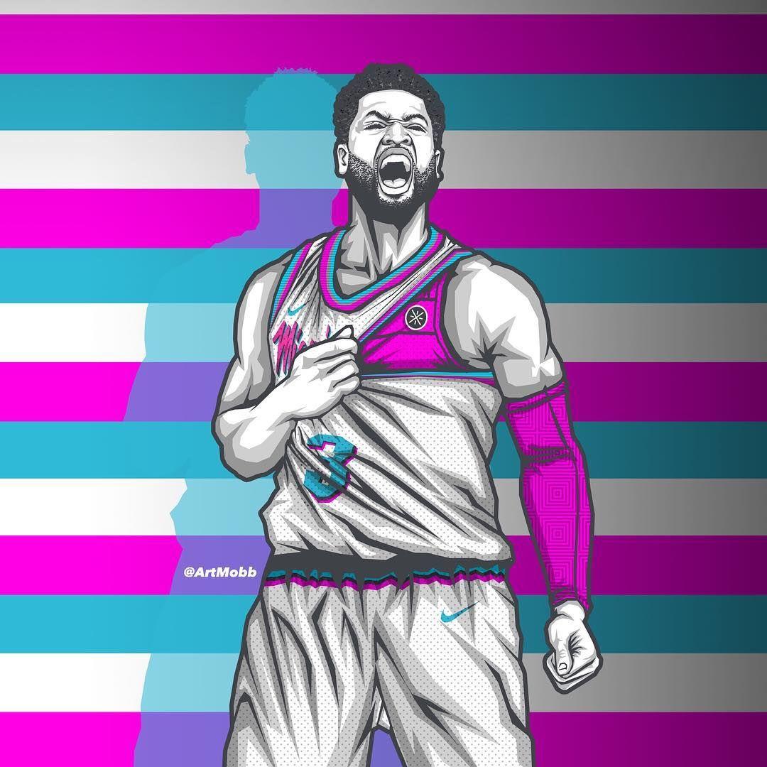 Miami Vice Versa H O M E Dwyanewade Wayofwade Miamiheat Artmobb Basketball Drawings Basketball Players Nba Miami Basketball