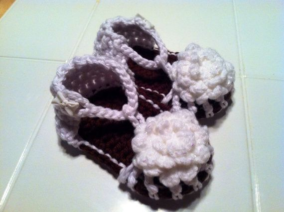 Baby Flower Sandals by HookLineandStinkers on Etsy, $20.00