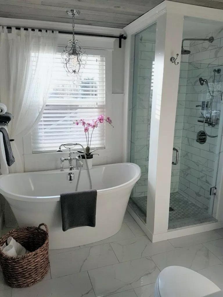 29+ Best Farmhouse Bathroom Decor Ideas on A Budget # ...