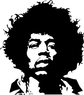 Download Vector Jimi Hendrix Stencil Images