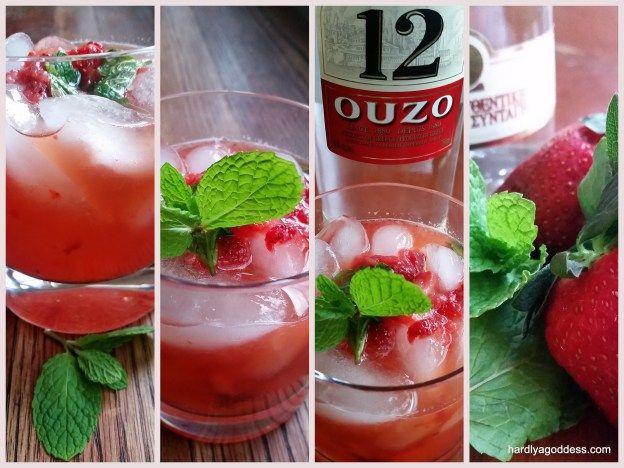Ouzito The Greek Mojito Sundaysupper Recipe Strawberry Cocktail Recipe Ouzo Greek Dinners