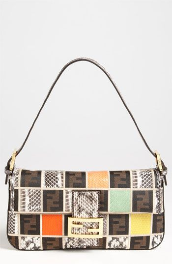 LOVE!!! Fendi 'Ayers' Snakeskin Patchwork Baguette available at #Nordstrom