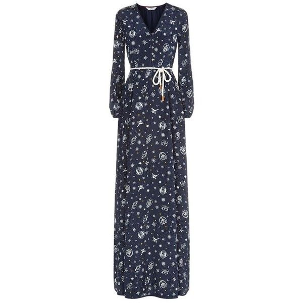 c9698cf26e TOMMYxGIGI Compass Print Silk Maxi Dress ( 390) ❤ liked on Polyvore  featuring dresses