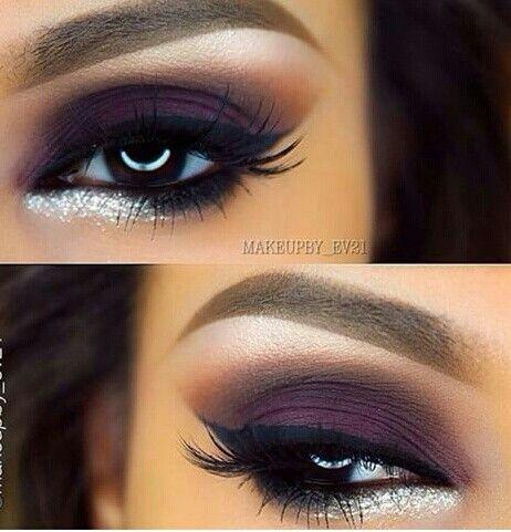 Ahumado en tonos purpuras \ cafe makeup Pinterest Café