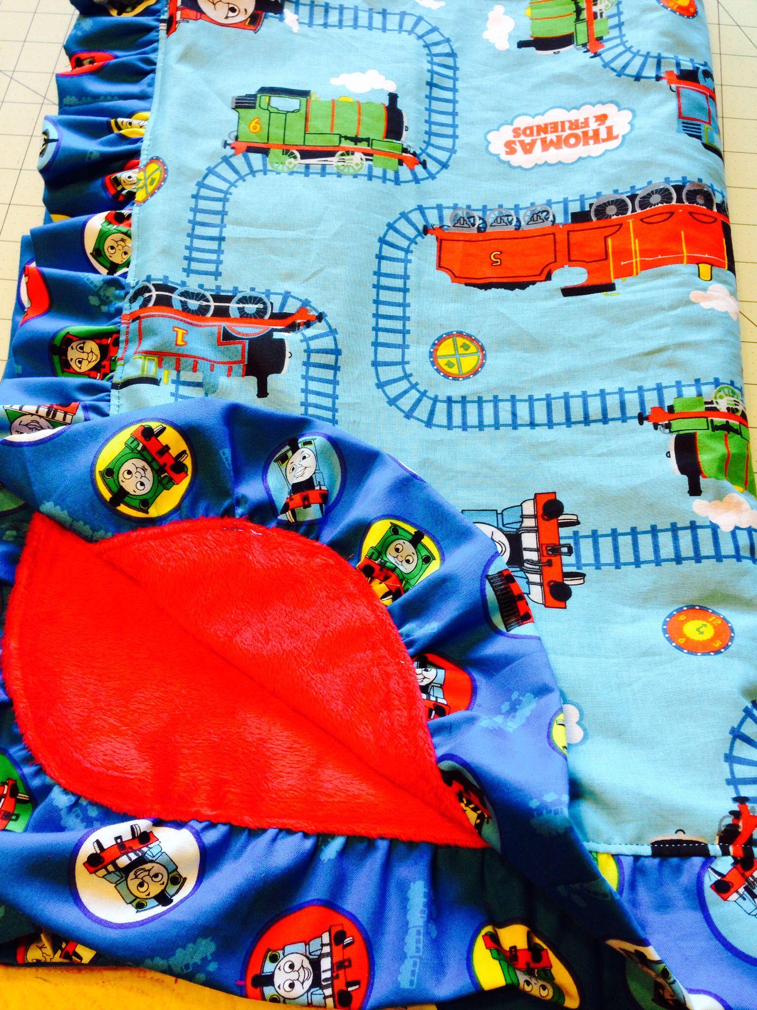 Thomas the train custom blanket. 50 mynanascozycuddles