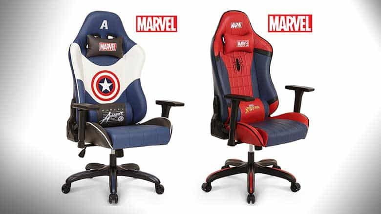 Gaming More Americaamp; Premium Marvel ChairSpider ManCaptain n8wO0Pk