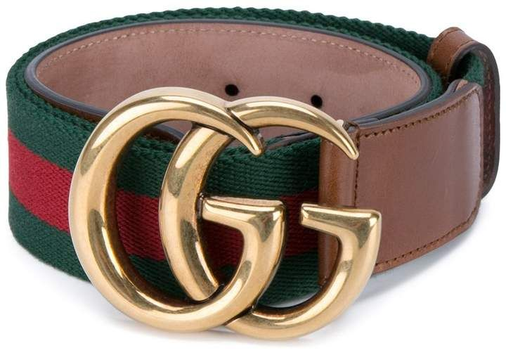 Gucci Double G Buckle Web Belt Farfetch Gucci Belt Outfit Genuine Leather Belt Gucci Belt
