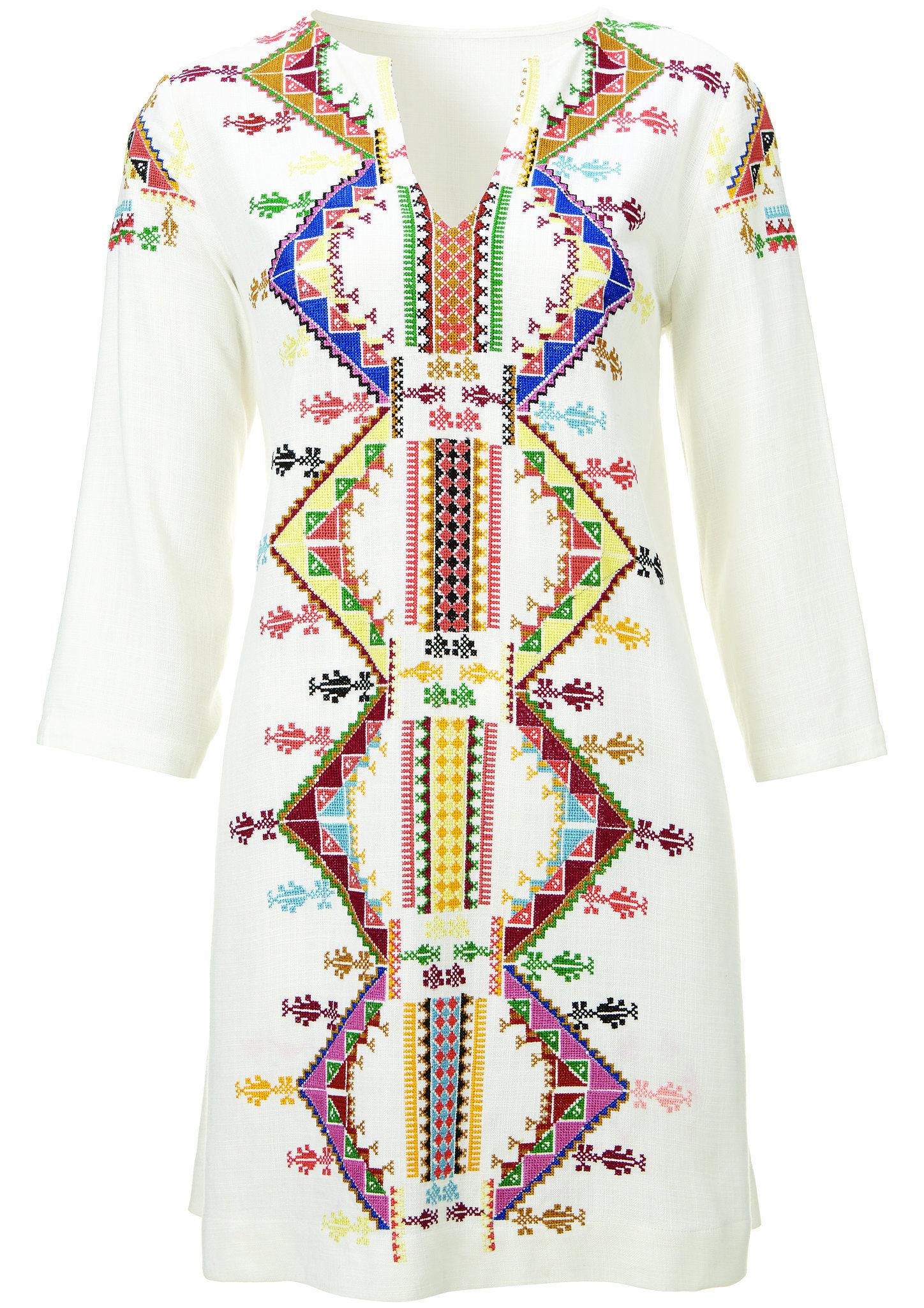 Kourtney Kardashian and Kate Moss for Topshop Embroidered Smock Dress Link