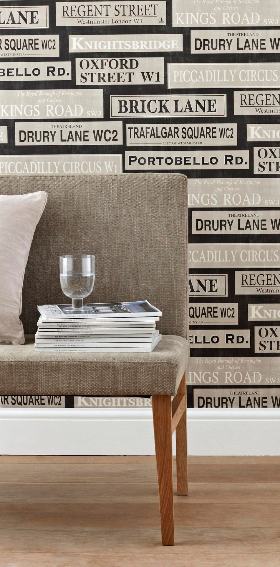 London Wallpaper For My London Themed Living Room Love It X