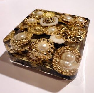 Oooh. Glittery resin paper weight
