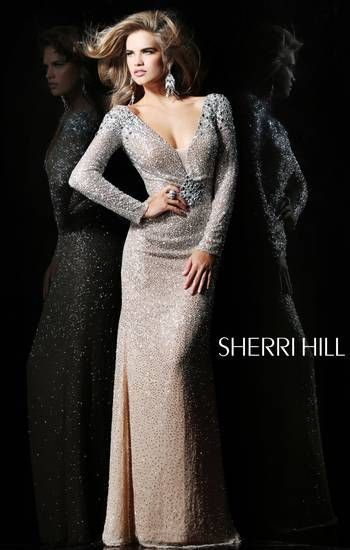 Beautiful Long Sleeve Sparkly Dress Perfect For A Winter Formal