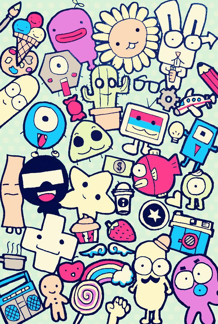 Iphone Wallpaper Tumblr Cute Girly Doodle Wallpaper Doodles