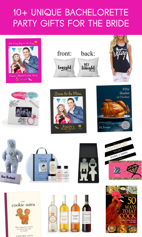 12 Unique Bachelorette Party Gifts For The Bride Fabselfie Unique Bachelorette Party Gifts Bachelorette Party Gifts Bachelorette Gifts