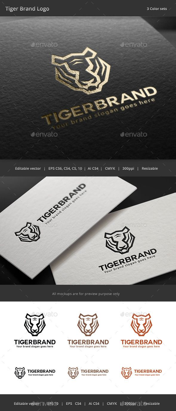Tiger Brand Logo Template Vector EPS, AI #logotype Download: http://graphicriver.net/item/tiger-brand-logo/11292746?ref=ksioks