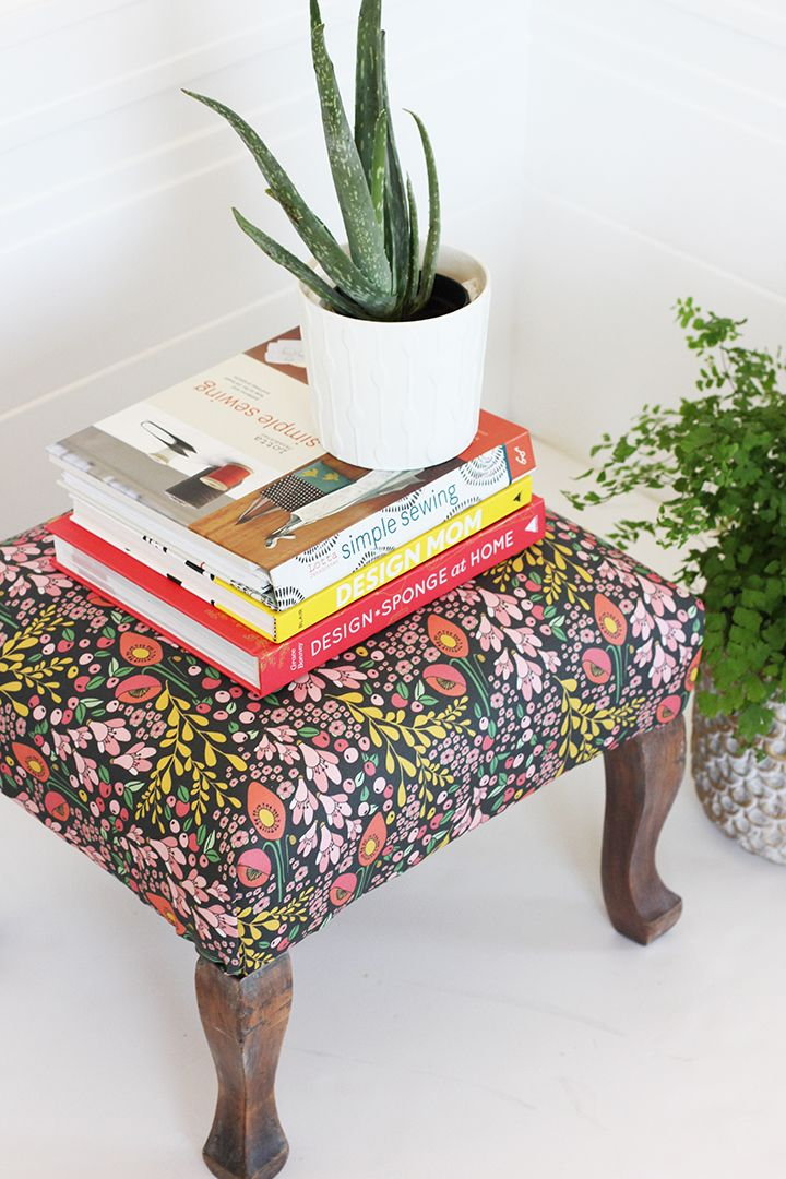 Diy Reupholstered Stool Reupholster Furniture Upholstered Stool Furniture Makeover
