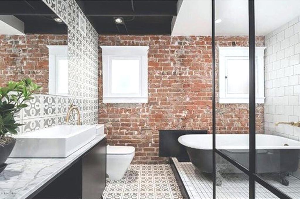 Brick Bathroom Floor Bathroom Modern Bathroom With White Brick