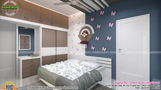 Kids Room Home Theater And Bedroom Interior With Images