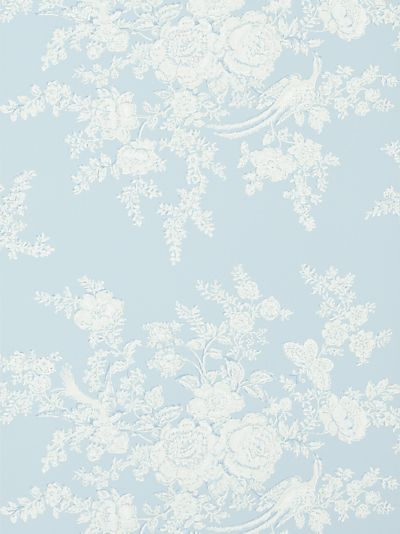 Buy Ralph Lauren Vintage Dauphine Wallpaper, Sky, Prl028/04 online at JohnLewis.com - John Lewis