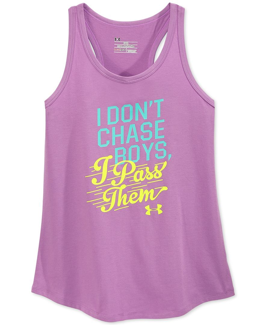 7381039327ec0 Under Armour Girls Just Call Me Awesome Tank