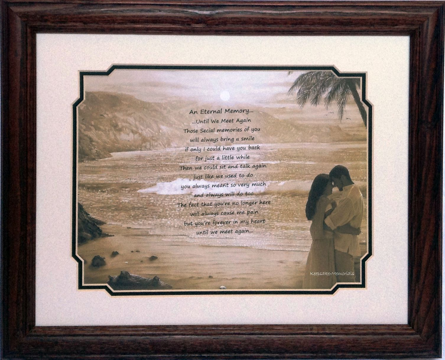 "Remembrance Framed Print - An Eternal Memory- Couple - 11""x14"""