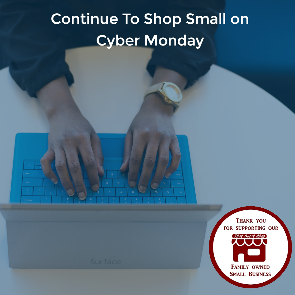 💻 Shopping online doesn't mean you can't continue to Shop Small. #thatgreatshop