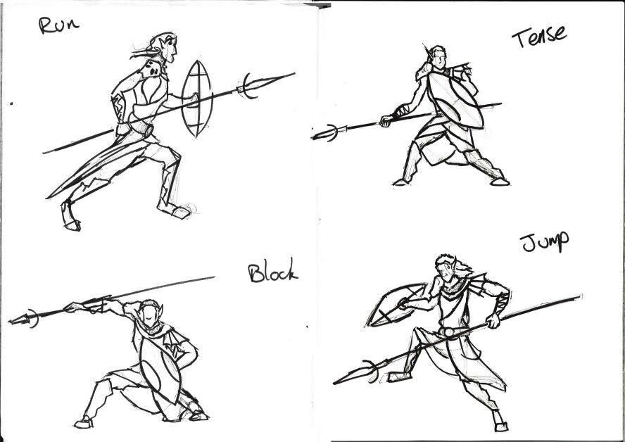 Spear Fighting Poses | Art etc  | Manga art, Art, Fighting poses
