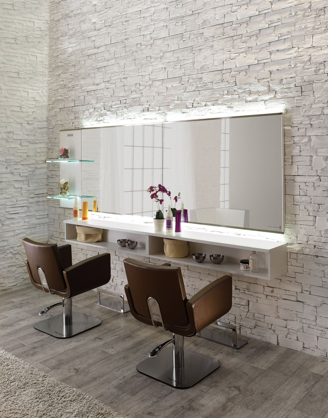 Salon ambience hairdressing furniture made in italy for Saloni interni