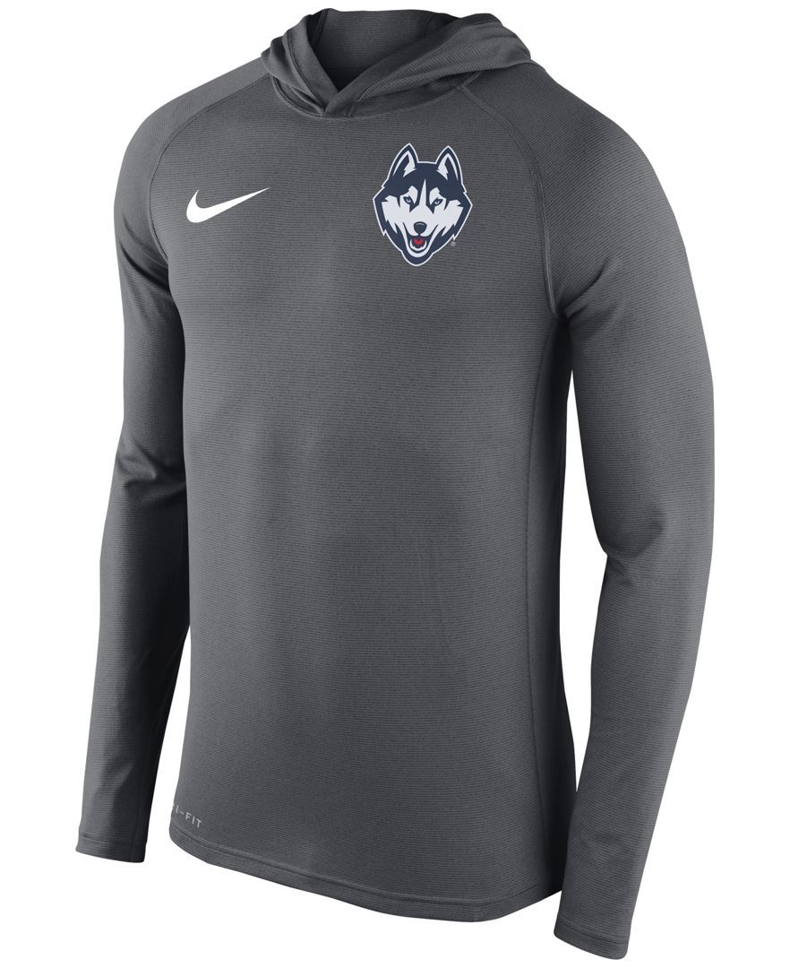 Nike Men's Connecticut Huskies Stadium Dri-fit Touch Hoodie