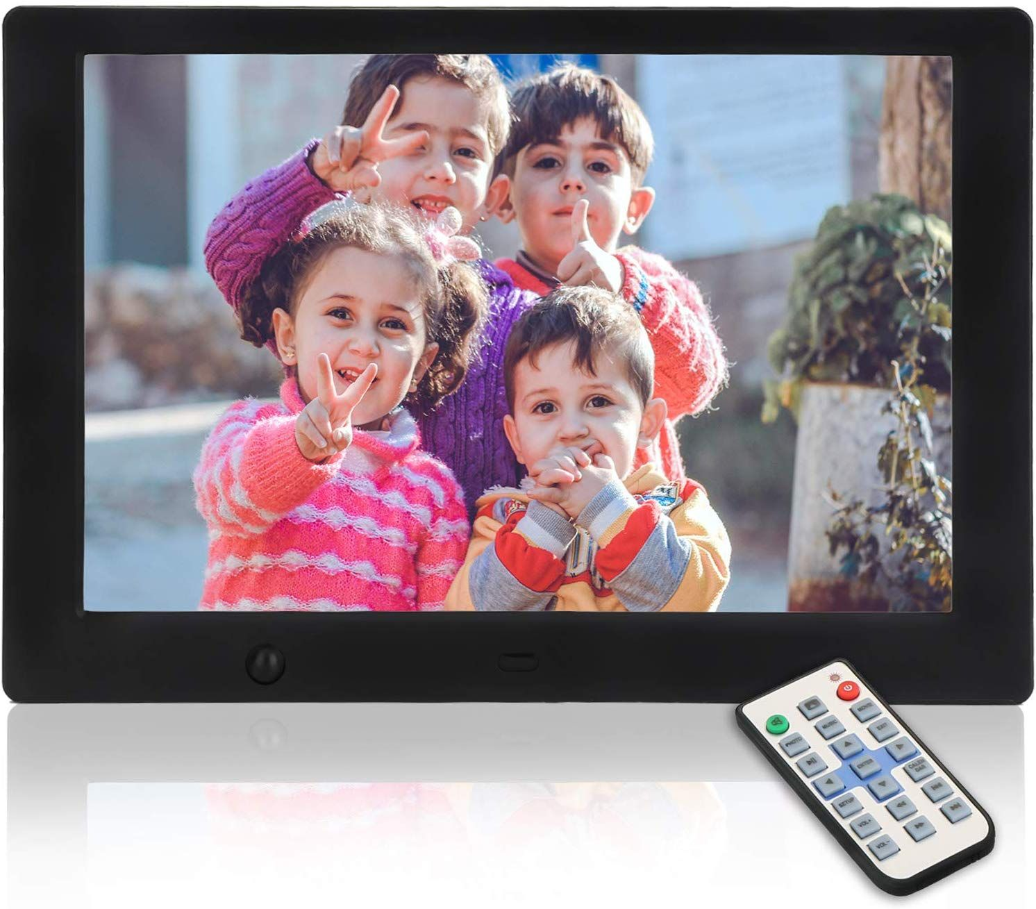 Support TF Card for 40000 Photos 1280 HD Touch Screen Multi-User Connection Easy to Use for All Ages Gray WiFi YUNTAB 10 inch Digital Picture Frame Timing Start Instantly Share Photo by APP