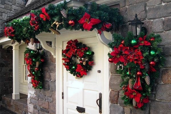 Como Hacer Guirnaldas Navideñas Buscar Con Google Entryway Christmas Decorations Christmas Decorations Outdoor Christmas Decorations