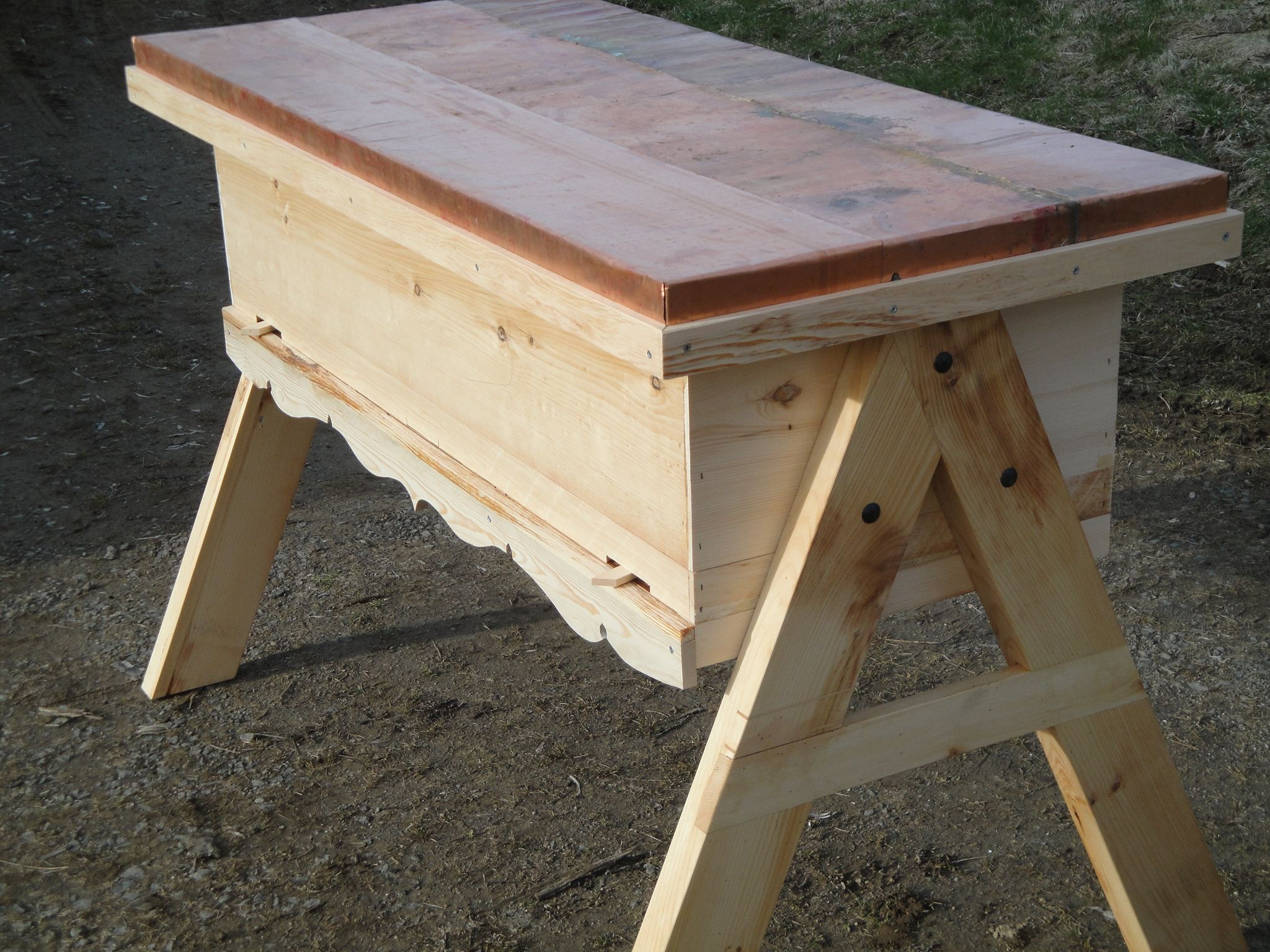 Top Bar Hive 3 6 With Observation Window And Stand