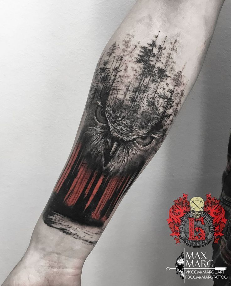 Owl tattoo on the new forearm school by Maks Ivanov – #flag #fore …, #auf #der #flag #Fore