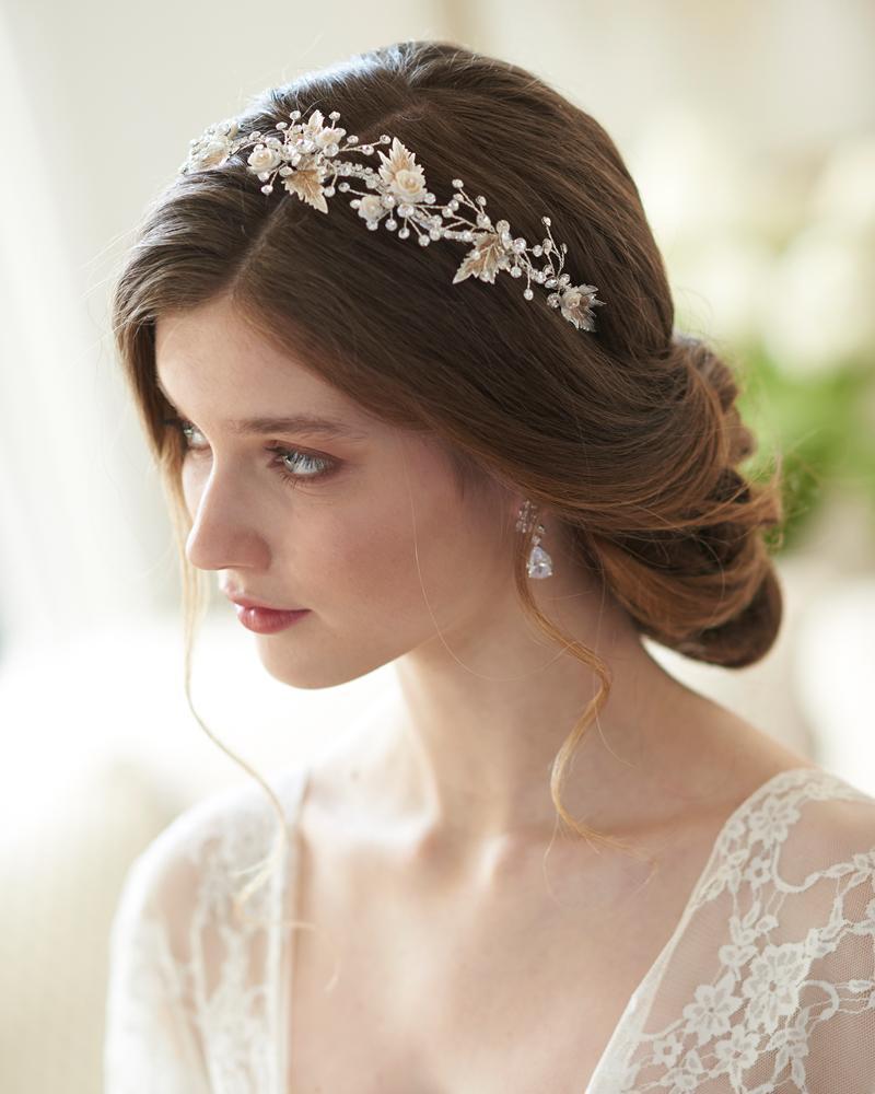 Garden Princess Floral Leaf Headband In 2020 Best Wedding