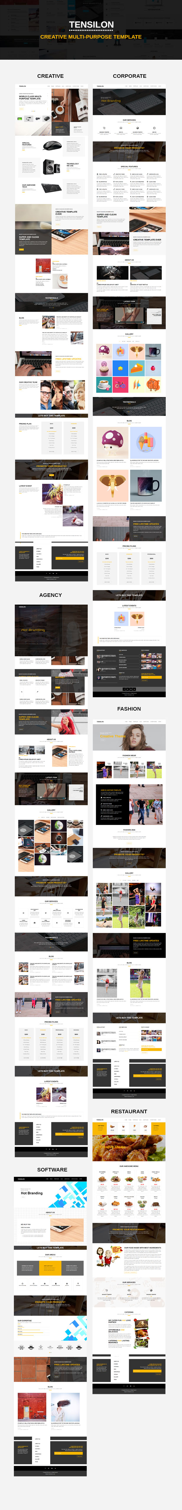 Tensilon | Multipurpose Html Template | Creative web design ...