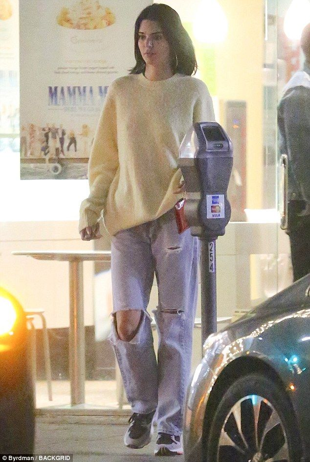 Kendall Jenner covers up in cozy sweater during da